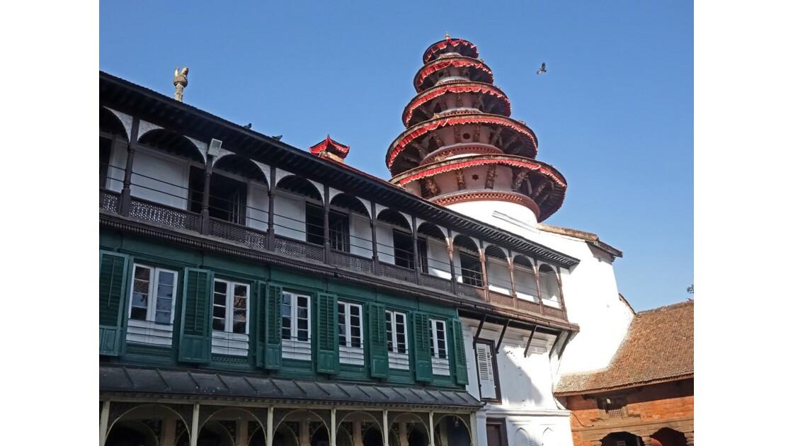 Népal Katmandou Durbar Square Najal Chowk temple Panch Mukhi Hanuman