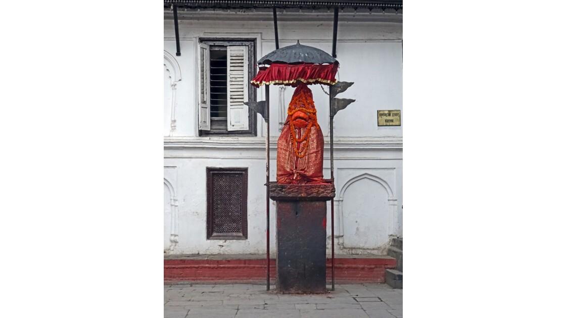 Népal Katmandou Durbar Square Statue d'Hanuman 1
