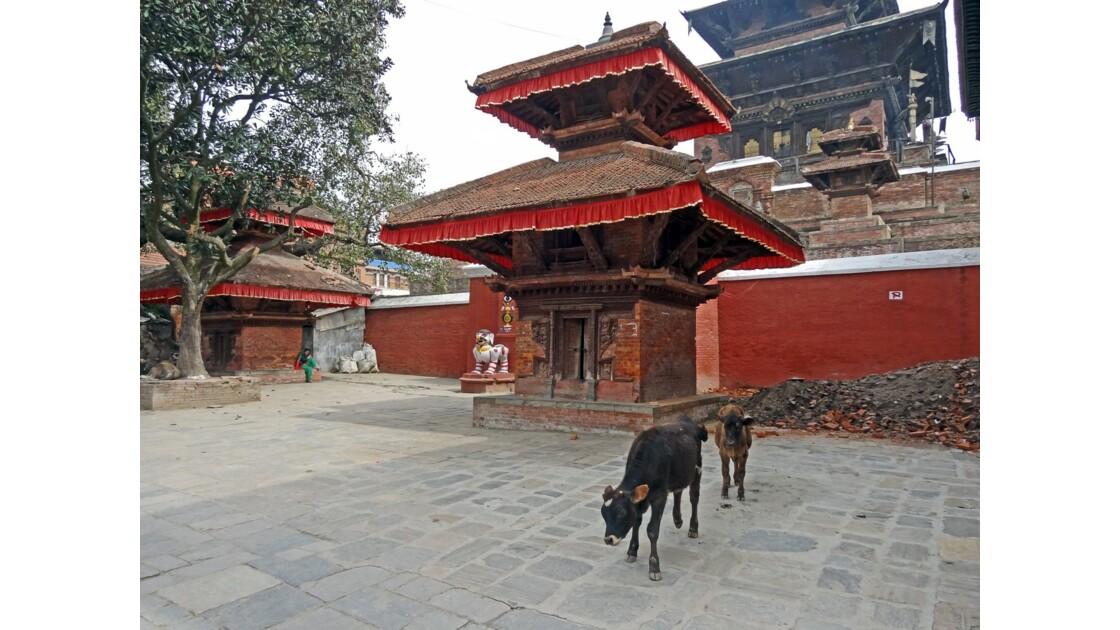 Népal Katmandou Durbar Square Entrée du temple de Taleju 1