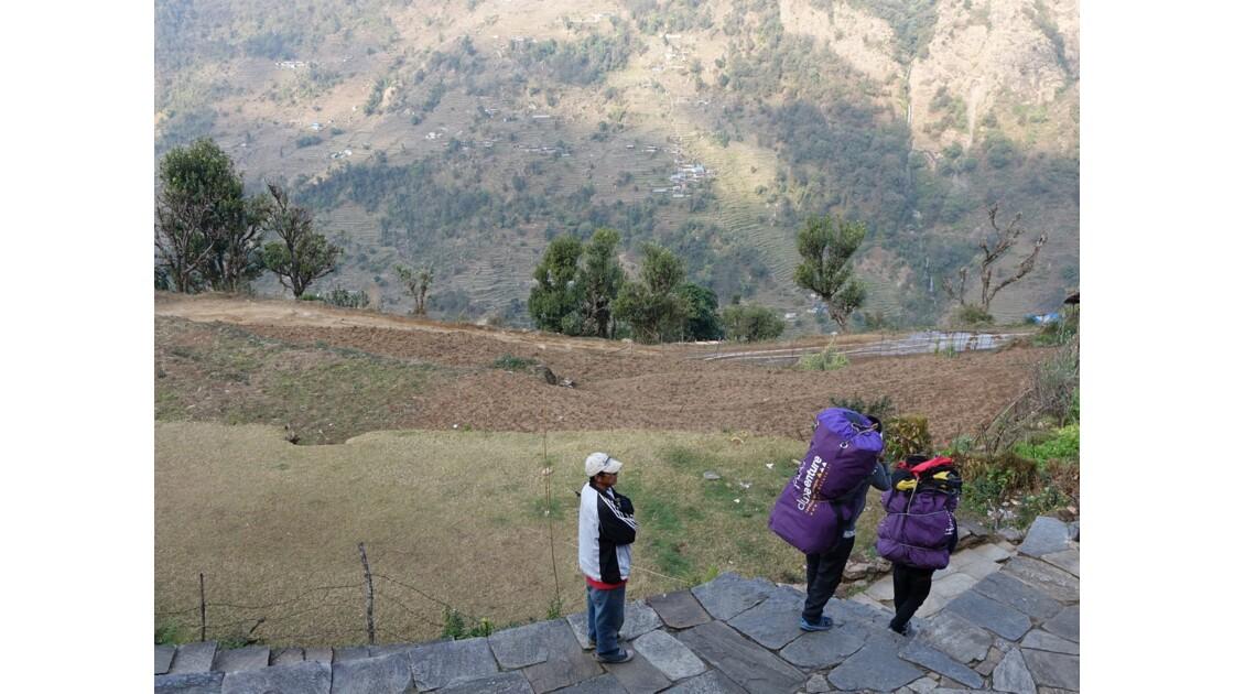 Népal Landruk Départ pour Ghandruk 2