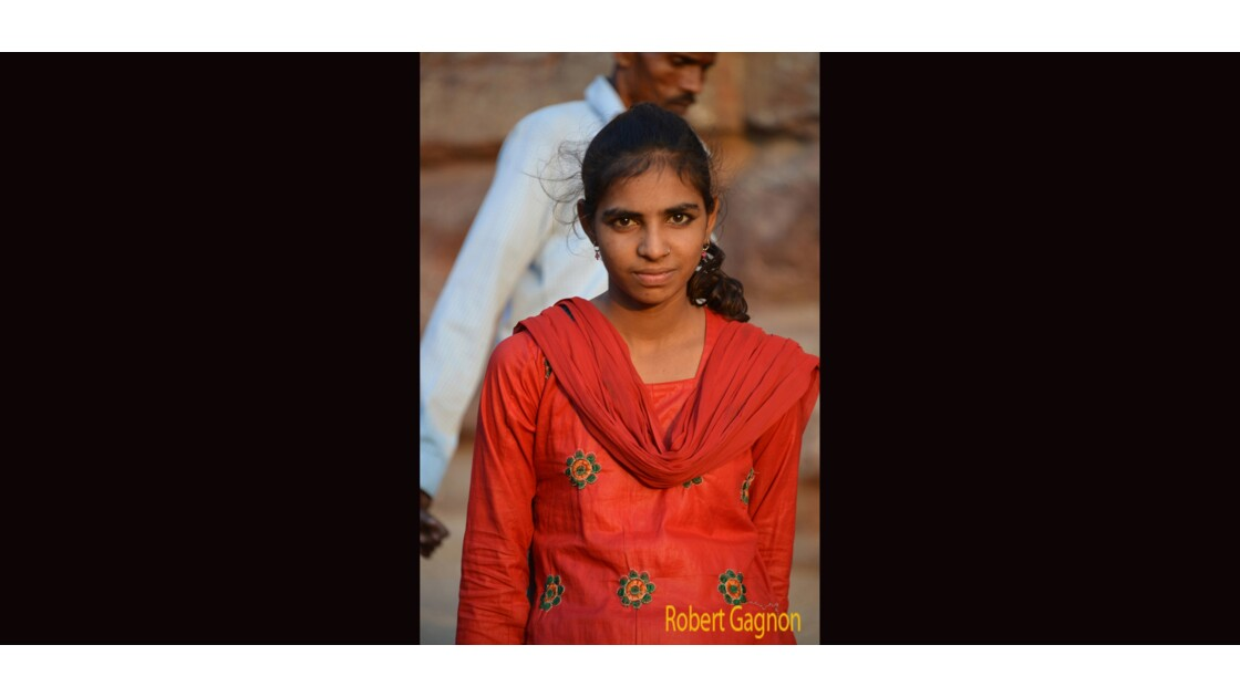 La jeune fille au Fort Mehrangarh