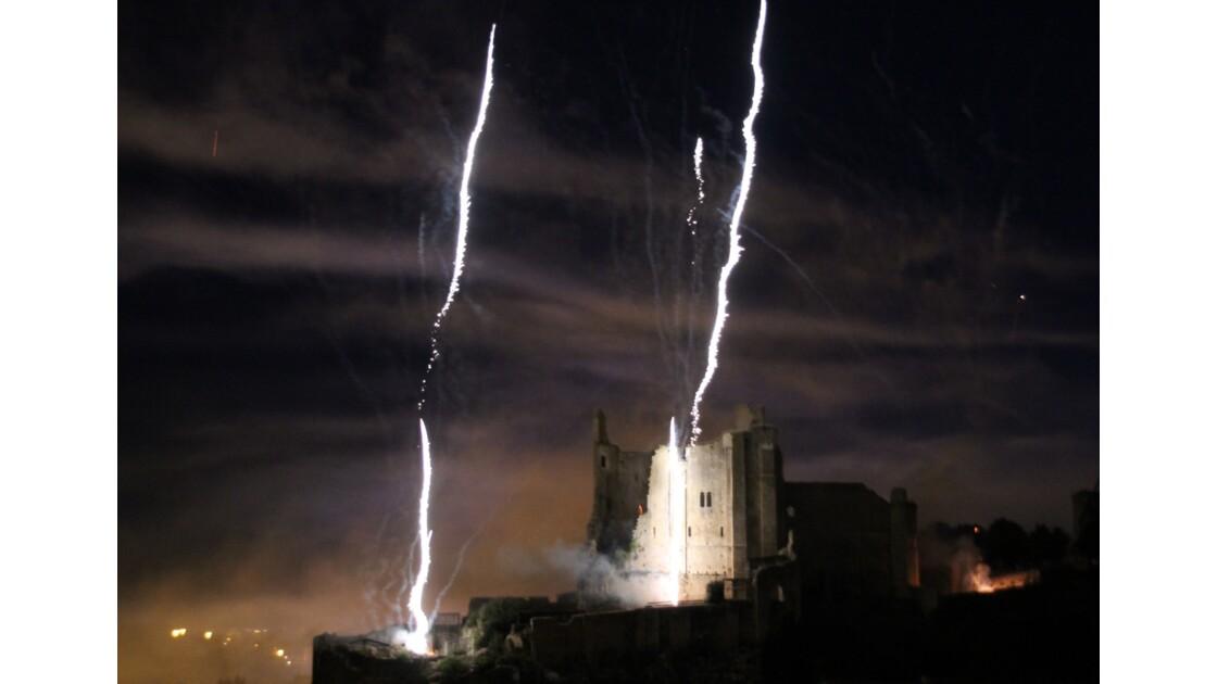 foudre sur château des Eveques