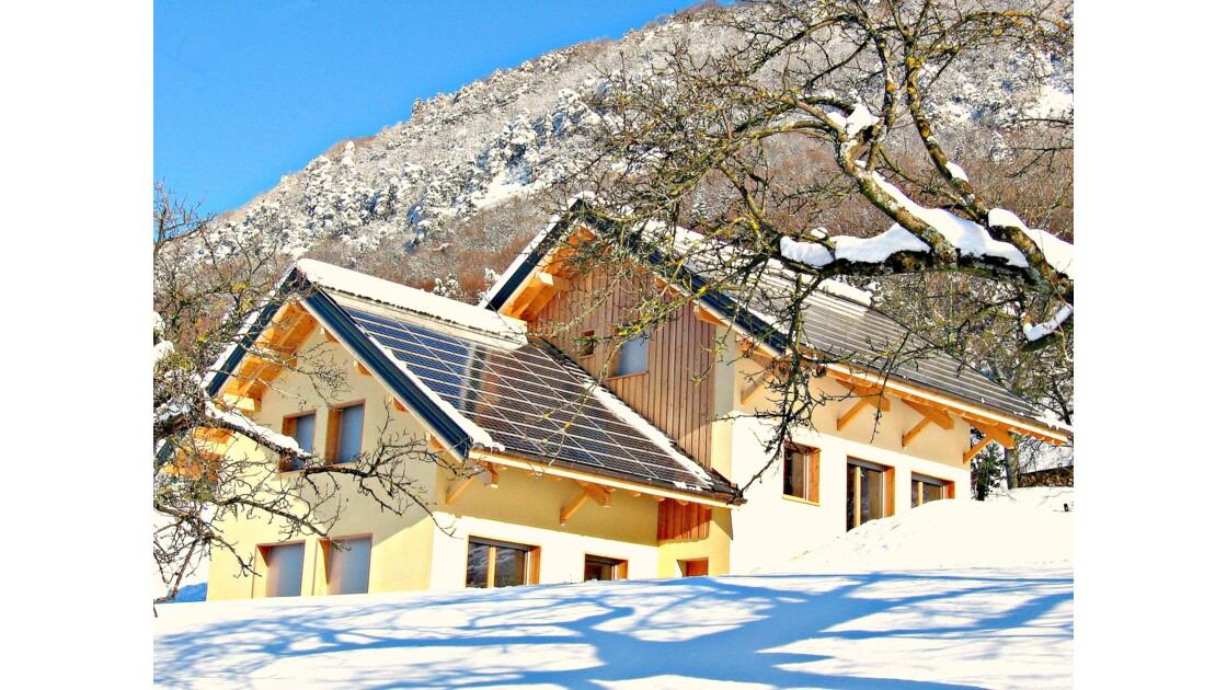 Gîte à énergie positive en hiver pour 10 personnes