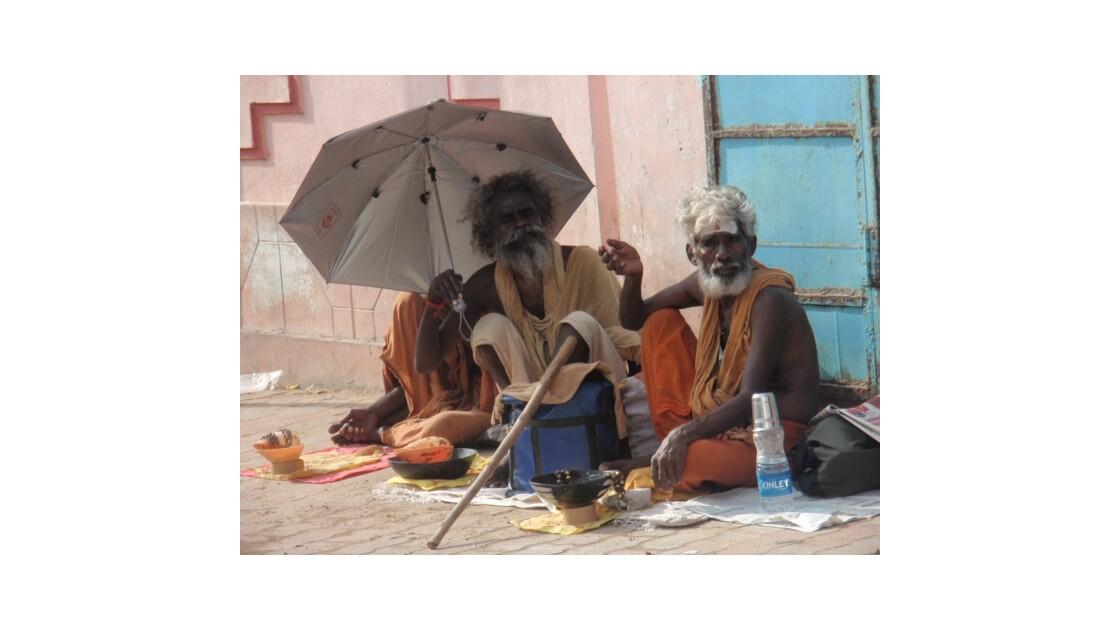 Sadhus dans le Tamil Nadu