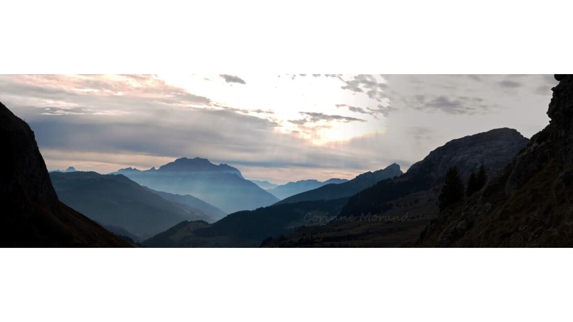 Fin de journée au Col de La Colombière