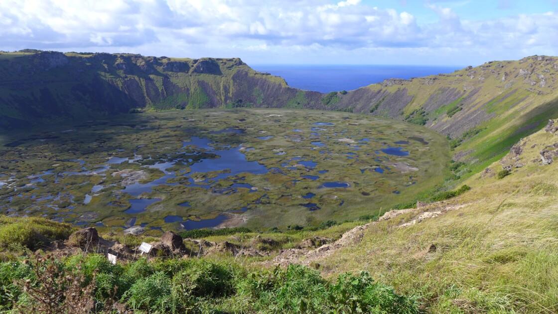 île de Pâque volcan Rano Kau