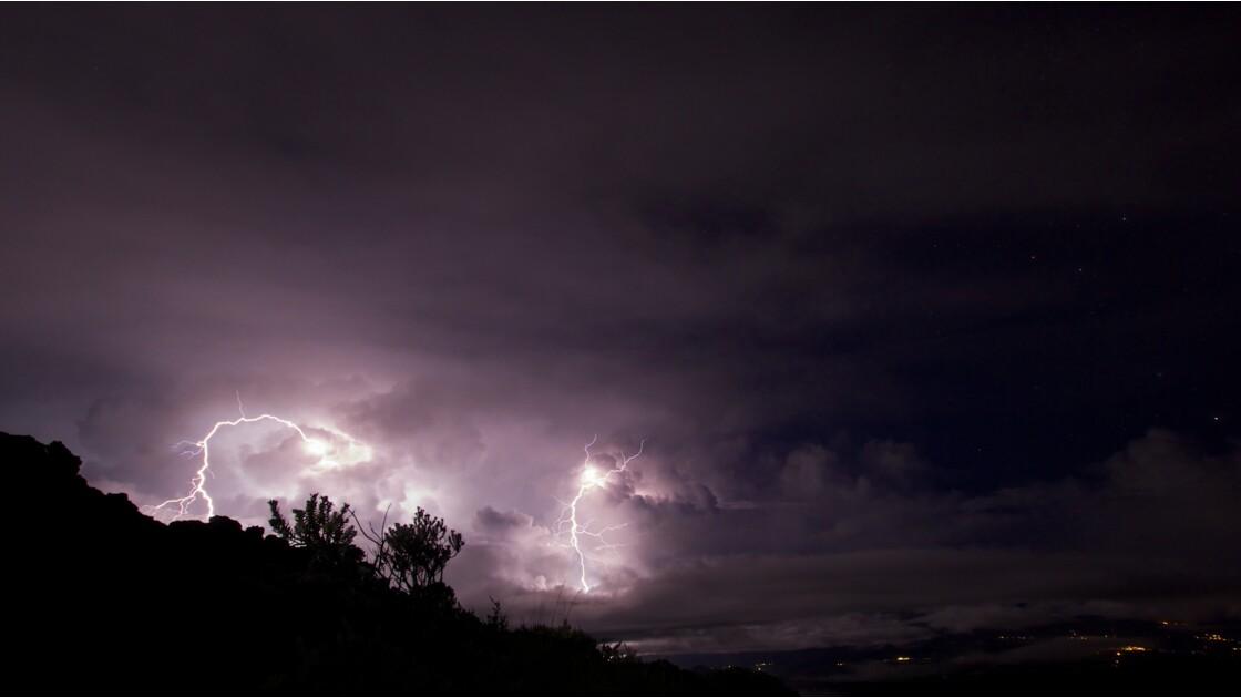 Ciel colérique sur La Réunion