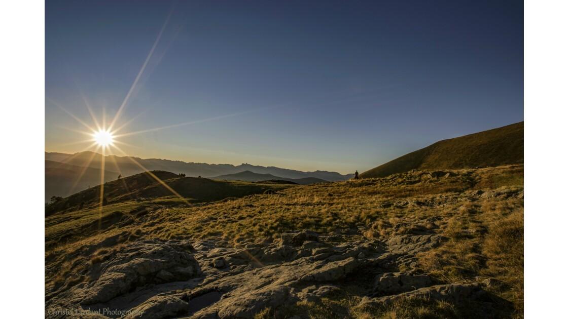Coucher de soleil sur le Mont Thabor