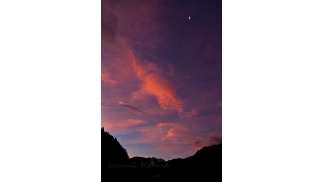 ciel rose du matin