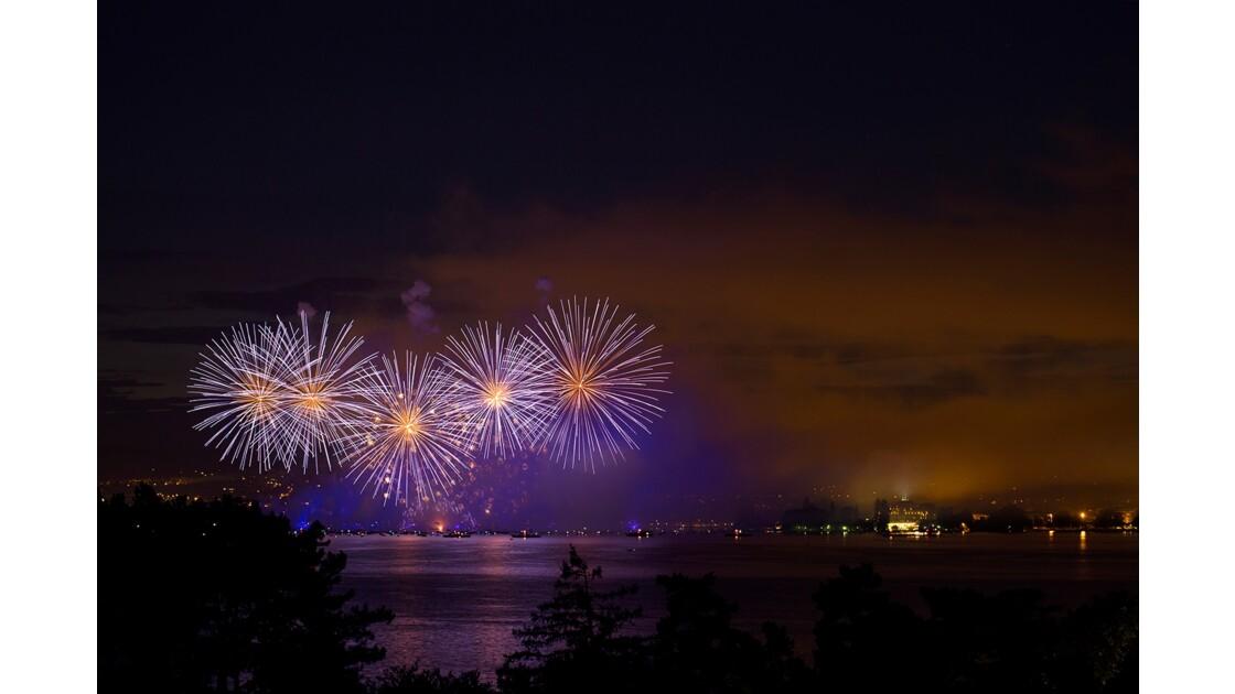 Feu d'artifice au Lac d'Annecy