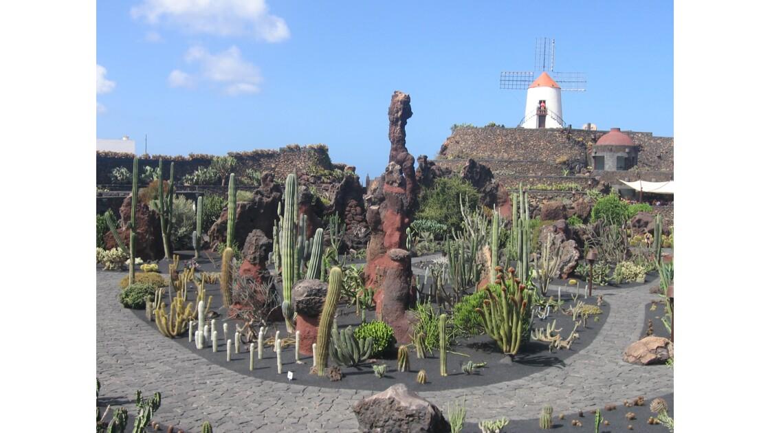 le jardin de cactus de Lanzarote