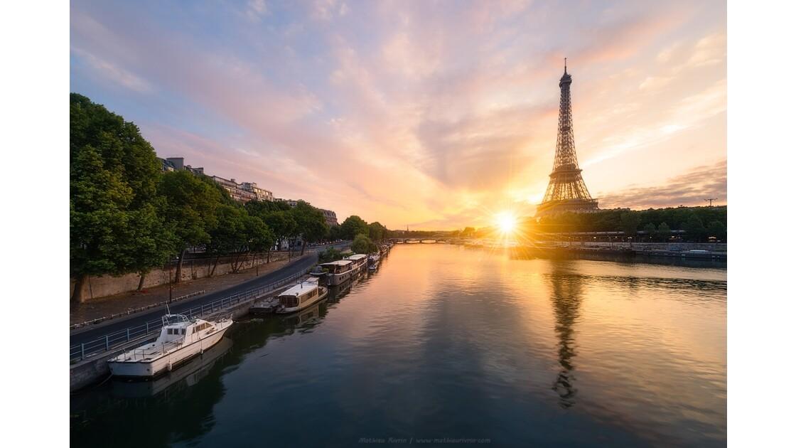 Premiers rayons de soleil sur la capitale