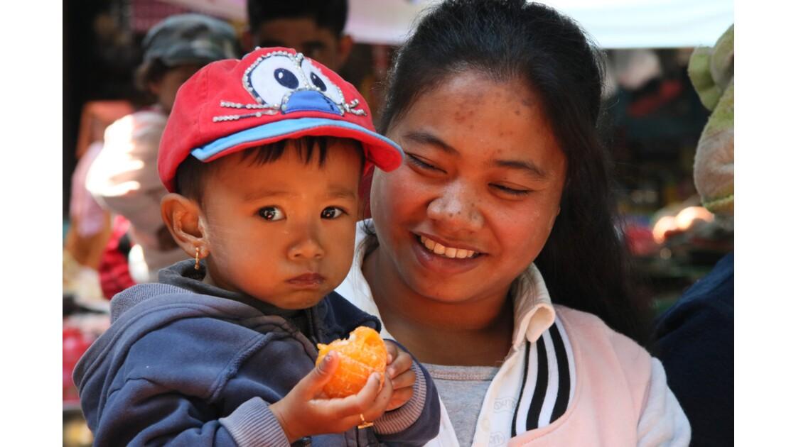 marché de Shwe Nyaung