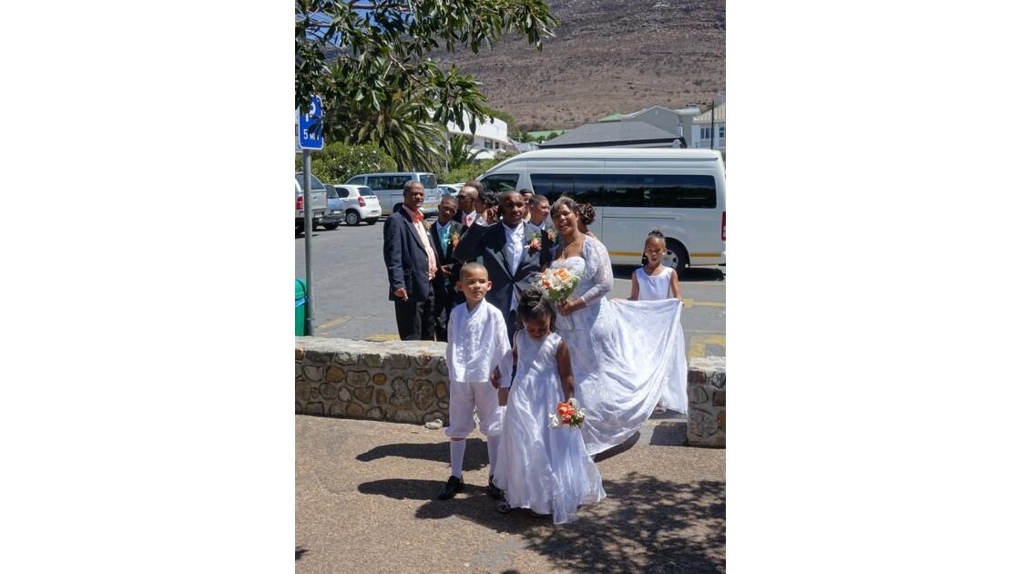 Afrique du Sud les mariés de Bouders Beach