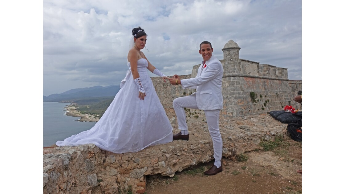 Cuba Santiago Castillo d'El Moro Just Married 2
