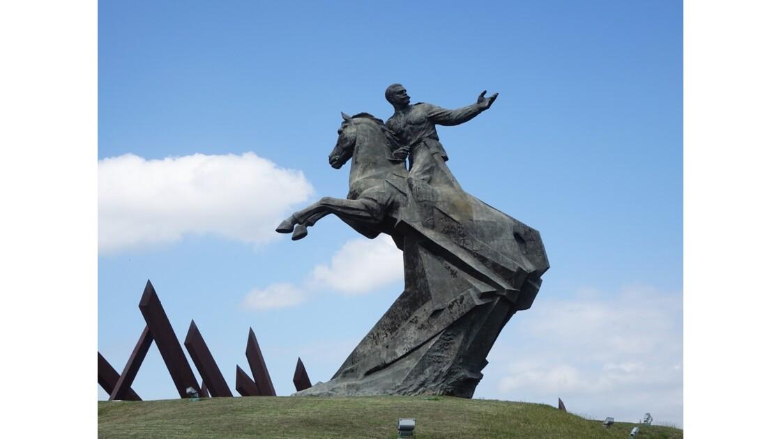 Cuba Santiago Plaza de la Revolucion Statue du général Maceo 3