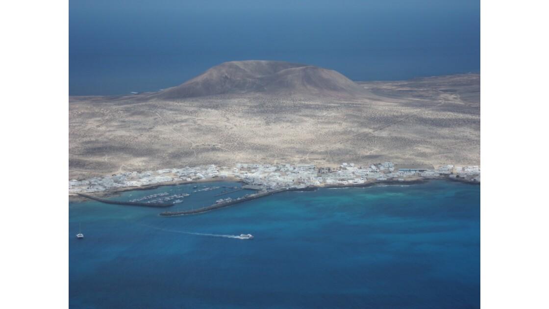 l' Isla Graciosa vue du ciel