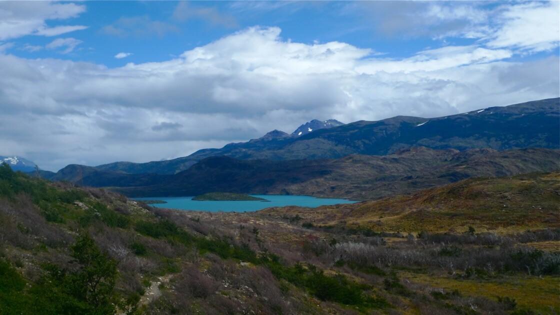 Lac Grey, parc de Torres del Paine en Patagonie Chilienne