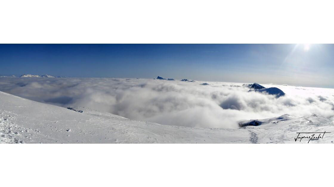 Panorama du Vercors en hiver