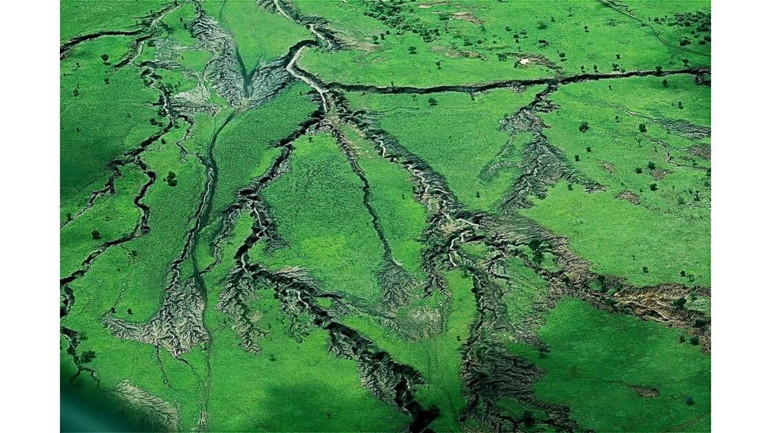 Relief  du massif du Ngorongoro vu du ciel
