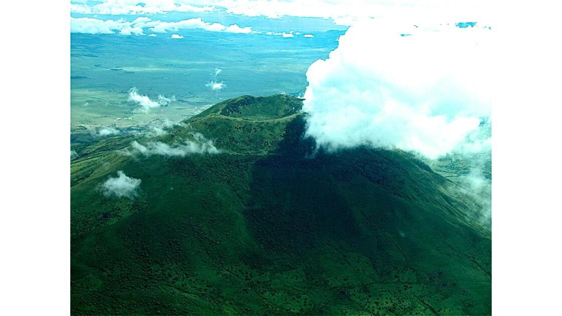 Vu du ciel : cratère du Ngorongoro