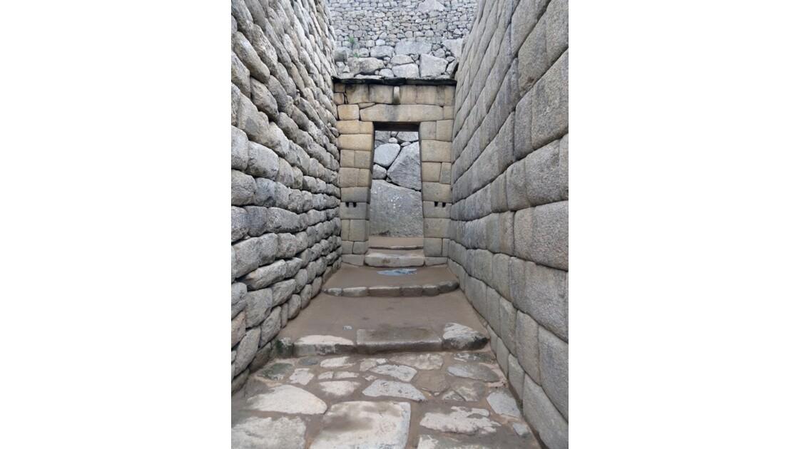 Pérou Machu Picchu Vers la maison de l'Inca