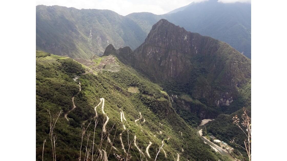 Pérou Machu Picchu vu du chemin de l'Inca 2