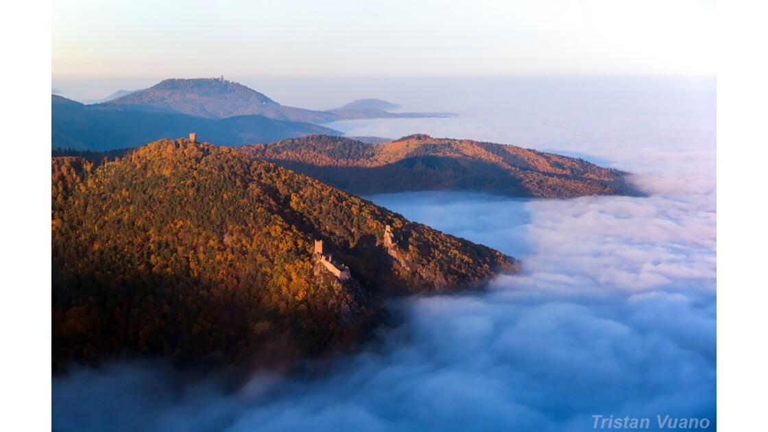 Mer de nuages sur les Châteaux d'Alsace