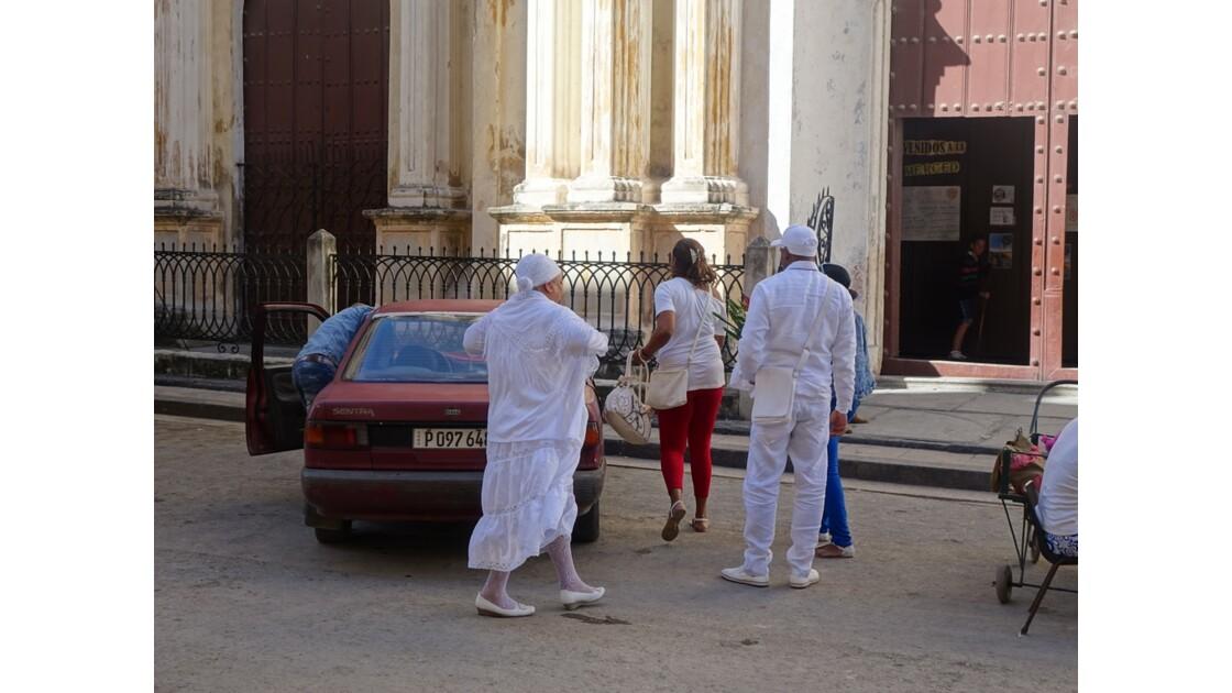 Cuba La Havane Iglesia de la Merced adeptes de la Santeria 7