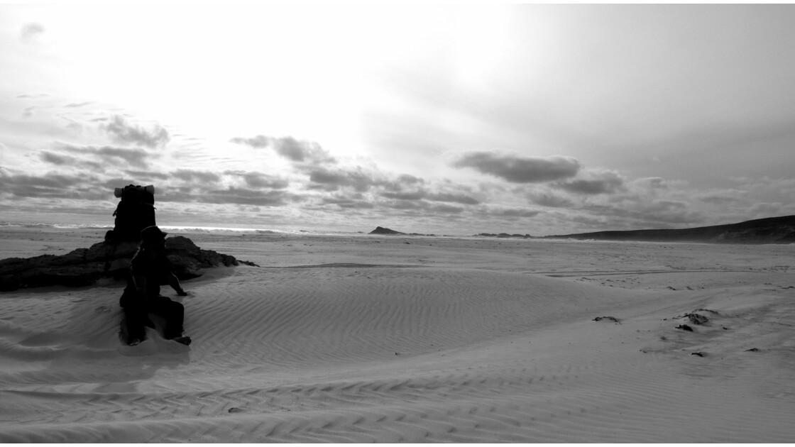 Eppuisé sur la plage