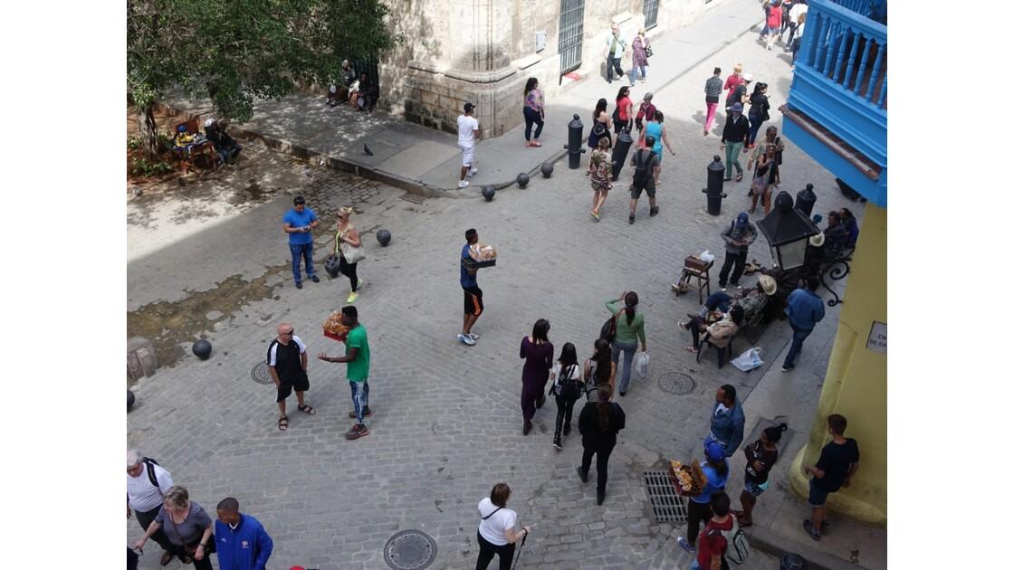 Cuba La Havane Calle Obispo vue d'Ambos Mundos