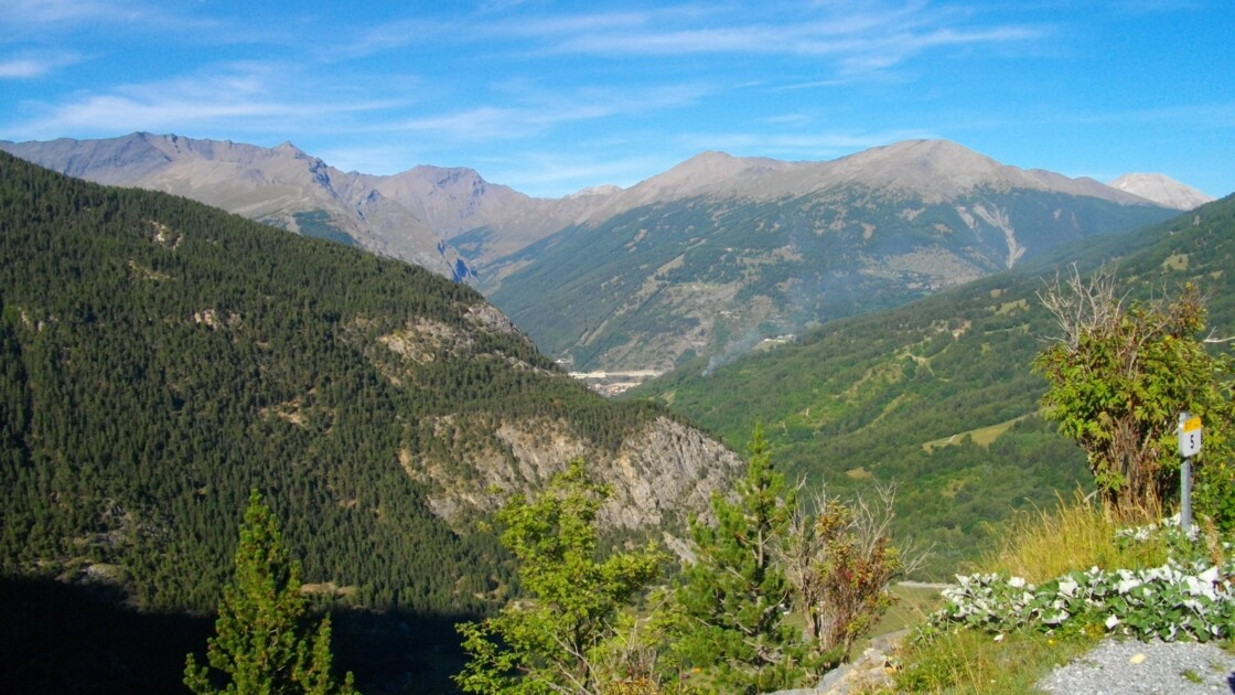 Autoroute Modane-Turin et Mont Jafferau