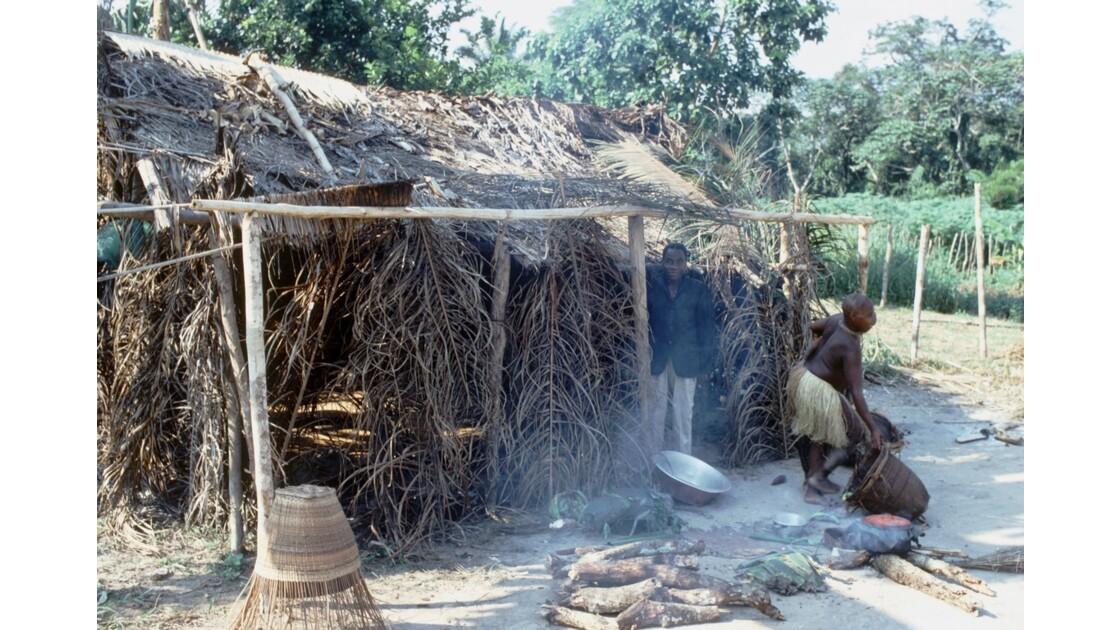 Congo 70 Campement pygmée autour de Dongou 2