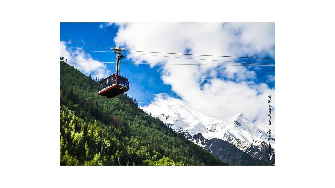 Mont-Blanc et Télécabine de l'Aiguille du Midi