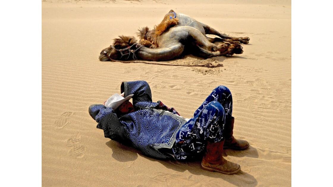 Sieste dans les dunes