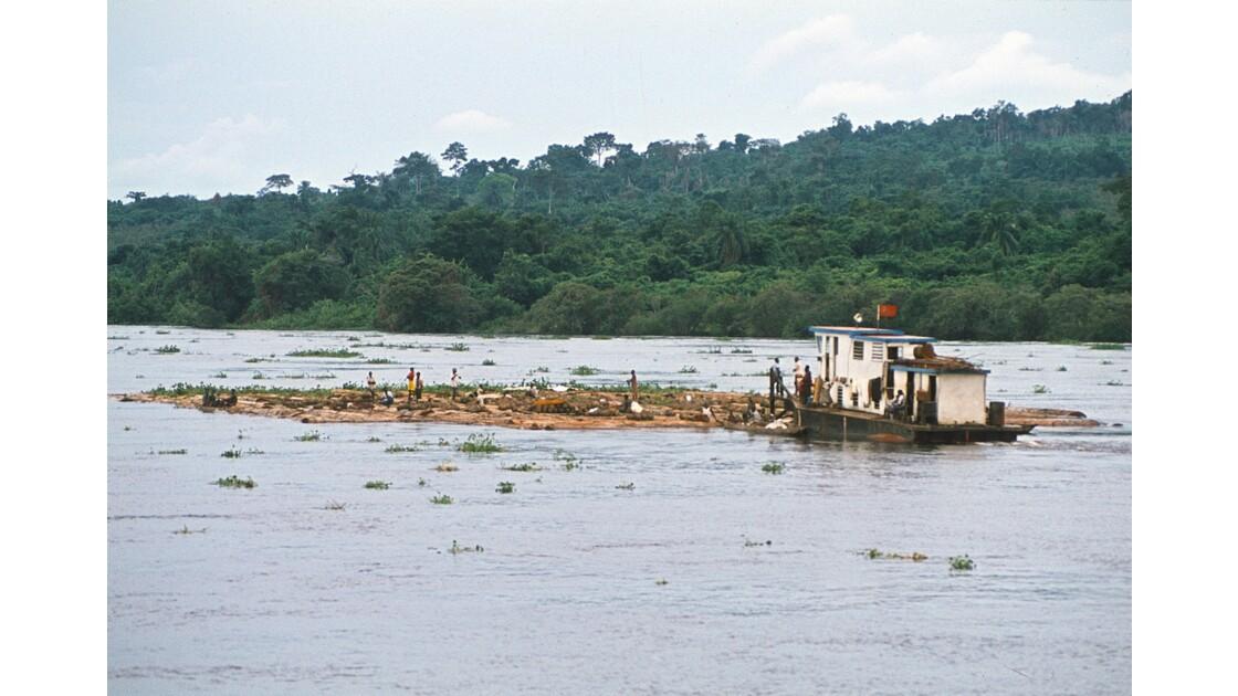 Congo 70 D'Impfondo à Brazzaville Pousseur de billes de bois 1