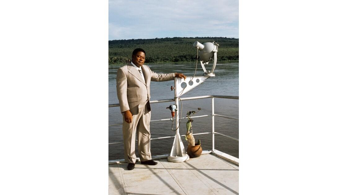 Congo 70 le Capitaine Gaston Sabonga  à l'arrivée à Brazzaville