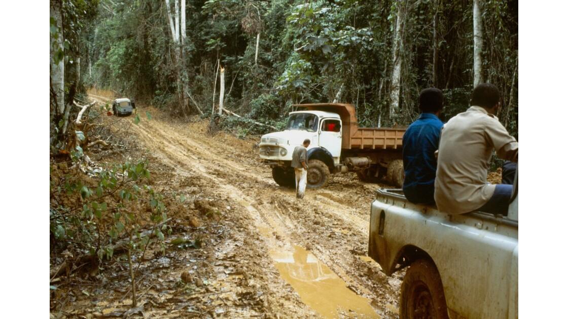 Congo 70 Forêt du Chaillu bourbier 1