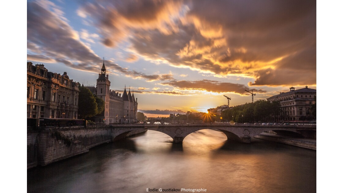 Sunset over the Seine, Paris, 2016