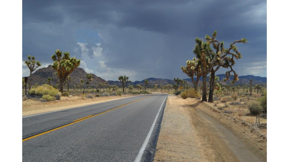 Route orageuse