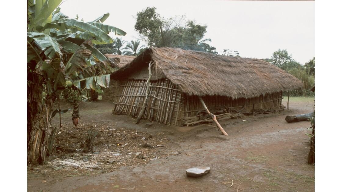 Congo 70 Plateaux Téké Village et bananier