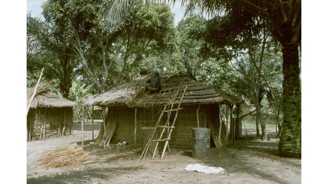 Congo 70  Plateaux Téké Réparation dun toit 2