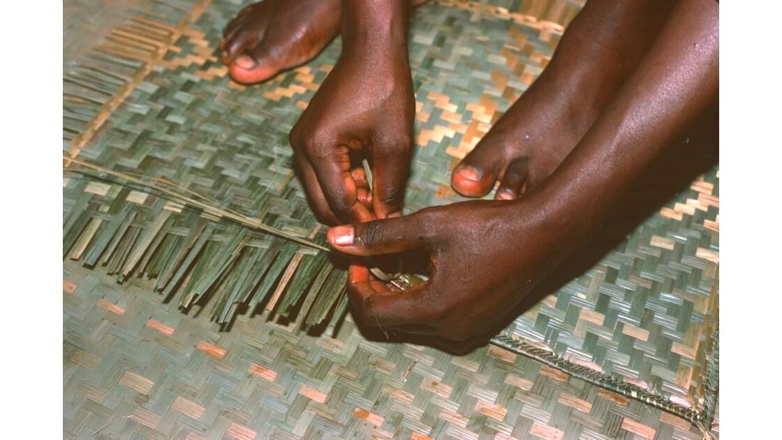 Congo 70  Plateaux Téké tissage de natte 2