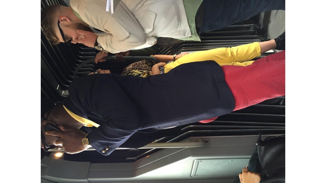 dans les transports en commun de Bruxelles