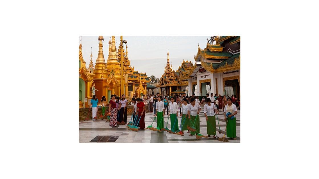 Nettoyage du temple