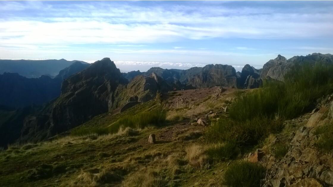 les montagnes de Madere (Picos do ruivo)
