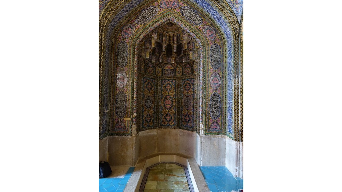 Iran Shiraz la mosquée Nasir-ol-Molk le Shabestan 2