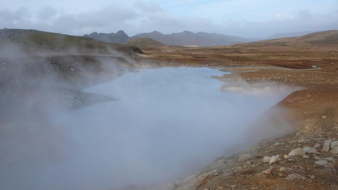 Hot springs in Reykjanes Peninsula