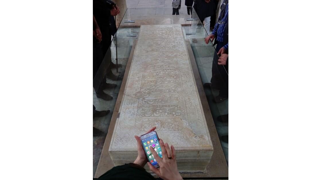 Iran Shiraz la pierre tombale du mausolée de Hâfez 1