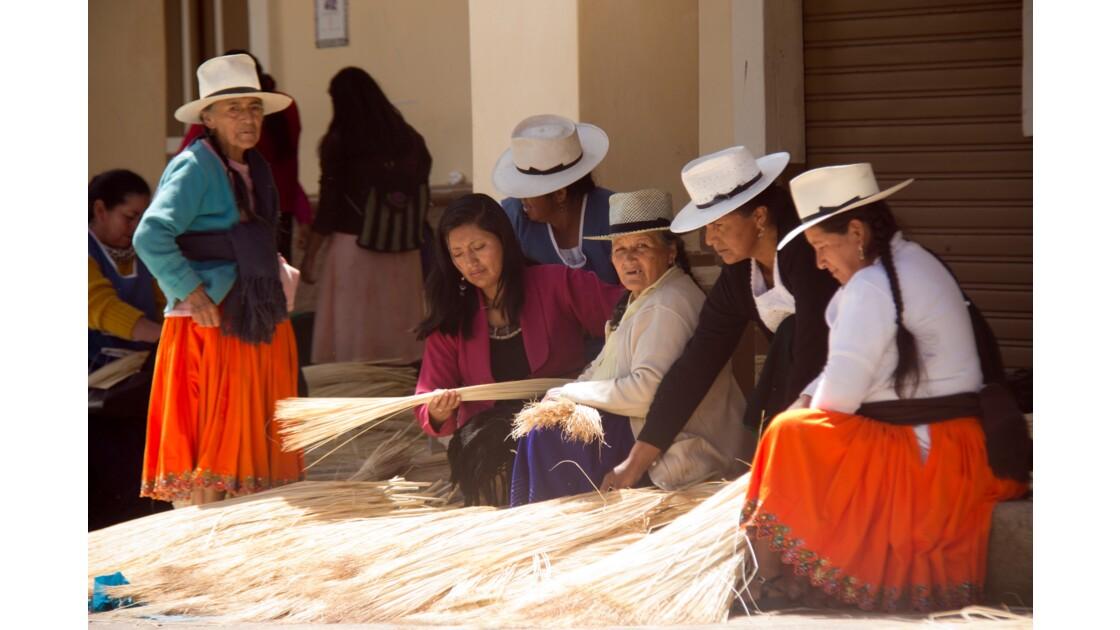 Chapellerie traditionnelle en Équateur